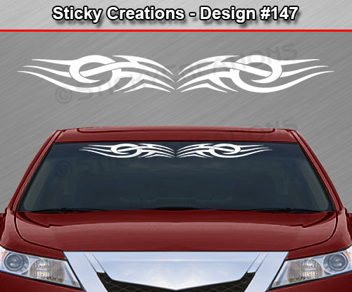 "Design #147 - 36""x4.25"" + Windshield Window Tribal Accent Vinyl Sticker Decal Graphic Banner"