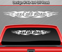 "Design #148 4x4 Off Road - Windshield Window Tribal Flame Vinyl Sticker Decal Graphic Banner Truck 36""x4.25""+"