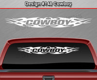 "Design #148 Cowboy - Windshield Window Tribal Flame Vinyl Sticker Decal Graphic Banner 36""x4.25""+"