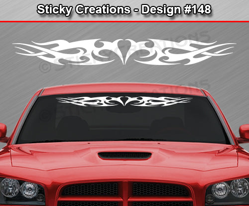 "Design #148 - 36""x4.25"" + Windshield Window Tribal Thorns Vinyl Sticker Decal Graphic Banner"