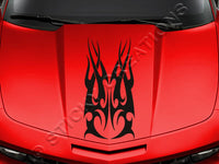 Design #148 Hood - Tribal Flame Decal Sticker Vinyl Graphic Car Truck SUV Vehicle