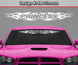 "Design #148 Princess - Windshield Window Tribal Flame Vinyl Sticker Decal Graphic Banner 36""x4.25""+"