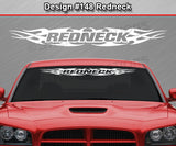 "Design #148 Redneck - Windshield Window Tribal Flame Vinyl Sticker Decal Graphic Banner 36""x4.25""+"
