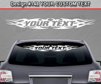 "Design #148 Your Text - Custom Personalized Windshield Window Tribal Flame Vinyl Sticker Decal Graphic Banner 36""x4.25""+"