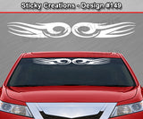 "Design #149 - 36""x4.25"" + Windshield Window Tribal Curl Vinyl Sticker Decal Graphic Banner"