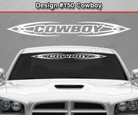 "Design #150 Cowboy - Windshield Window Tribal Accent Vinyl Sticker Decal Graphic Banner 36""x4.25""+"