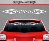 "Design #150 Cowgirl - Windshield Window Tribal Accent Vinyl Sticker Decal Graphic Banner 36""x4.25""+"