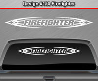 "Design #150 Firefighter - Windshield Window Tribal Accent Vinyl Sticker Decal Graphic Banner 36""x4.25""+"