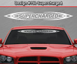 "Design #150 Supercharged - Windshield Window Tribal Accent Vinyl Sticker Decal Graphic Banner 36""x4.25""+"