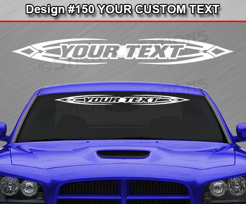 "Design #150 Your Text - Custom Personalized Windshield Window Tribal Accent Vinyl Sticker Decal Graphic Banner 36""x4.25""+"
