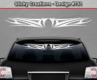 "Design #151 - 36""x4.25"" + Windshield Window Tribal Scallop Vinyl Sticker Decal Graphic Banner"