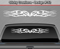 "Design #152 - 36""x4.25"" + Windshield Window Tribal Flame Vinyl Sticker Decal Graphic Banner"