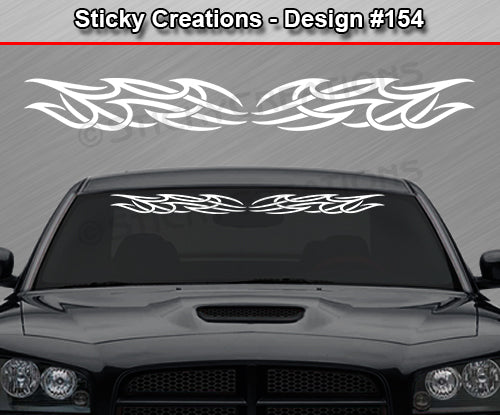 "Design #154 - 36""x4.25"" + Windshield Window Tribal Accent Vinyl Sticker Decal Graphic Banner"