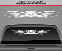 "Design #155 Skull - Windshield Window Tribal Flame Vinyl Sticker Decal Graphic Banner 36""x4.25""+"