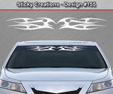 "Design #155 - 36""x4.25"" + Windshield Window Tribal Flames Vinyl Sticker Decal Graphic Banner"