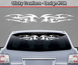 "Design #156 - 36""x4.25"" + Windshield Window Tribal Thorns Vinyl Sticker Decal Graphic Banner"