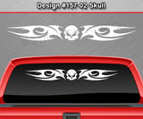 "Design #157 Skull - Windshield Window Tribal Blade Vinyl Sticker Decal Graphic Banner 36""x4.25""+"