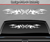 "Design #159 Butterfly - Windshield Window Tribal Thorns Vinyl Sticker Decal Graphic Banner 36""x4.25""+"