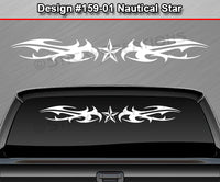 "Design #159 Nautical Star - Windshield Window Tribal Thorns Vinyl Sticker Decal Graphic Banner 36""x4.25""+"