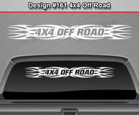 "Design #161 4x4 Off Road - Windshield Window Tribal Flame Vinyl Sticker Decal Graphic Banner Truck 36""x4.25""+"
