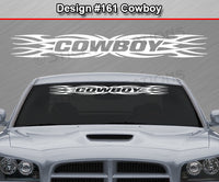 "Design #161 Cowboy - Windshield Window Tribal Flame Vinyl Sticker Decal Graphic Banner 36""x4.25""+"