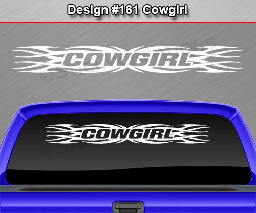 "Design #161 Cowgirl - Windshield Window Tribal Flame Vinyl Sticker Decal Graphic Banner 36""x4.25""+"