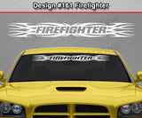 "Design #161 Firefighter - Windshield Window Tribal Flame Vinyl Sticker Decal Graphic Banner 36""x4.25""+"