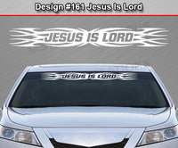 "Design #161 Jesus Is Lord - Windshield Window Tribal Flame Vinyl Sticker Decal Graphic Banner 36""x4.25""+"