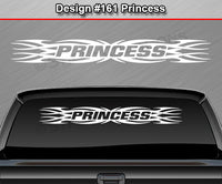 "Design #161 Princess - Windshield Window Tribal Flame Vinyl Sticker Decal Graphic Banner 36""x4.25""+"