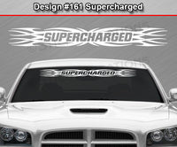 "Design #161 Supercharged - Windshield Window Tribal Flame Vinyl Sticker Decal Graphic Banner 36""x4.25""+"