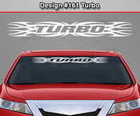 "Design #161 Turbo - Windshield Window Tribal Flame Vinyl Sticker Decal Graphic Banner 36""x4.25""+"