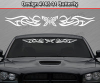 "Design #165 Butterfly - Windshield Window Tribal Accent Vinyl Sticker Decal Graphic Banner 36""x4.25""+"