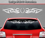 "Design #165 Horseshoe - Windshield Window Tribal Accent Vinyl Sticker Decal Graphic Banner 36""x4.25""+"