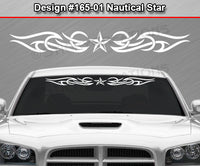 "Design #165 Nautical Star - Windshield Window Tribal Accent Vinyl Sticker Decal Graphic Banner 36""x4.25""+"