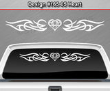 "Design #165 Heart - Windshield Window Tribal Accent Vinyl Sticker Decal Graphic Banner 36""x4.25""+"
