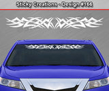 "Design #166 - 36""x4.25"" + Windshield Window Tribal Spikes Vinyl Sticker Decal Graphic Banner"