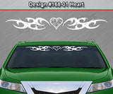 "Design #168 Heart - Windshield Window Tribal Curls Vinyl Sticker Decal Graphic Banner 36""x4.25""+"