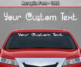 "Acroplis Font #1005 - Custom Personalized Your Text Letters Windshield Window Vinyl Sticker Decal Graphic Banner 36""x4.25""+"