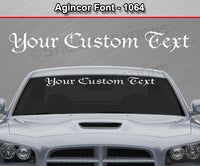 "Agincor Font #1064 - Custom Personalized Your Text Letters Windshield Window Vinyl Sticker Decal Graphic Banner 36""x4.25""+"