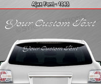"Ajax Font #1065 - Custom Personalized Your Text Letters Windshield Window Vinyl Sticker Decal Graphic Banner 36""x4.25""+"