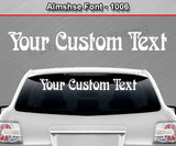 "Almshse Font #1006 - Custom Personalized Your Text Letters Windshield Window Vinyl Sticker Decal Graphic Banner 36""x4.25""+"