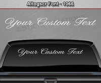 "Altog Script Font #1066 - Custom Personalized Your Text Letters Windshield Window Vinyl Sticker Decal Graphic Banner 36""x4.25""+"