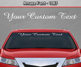 "Amaze Font #1067 - Custom Personalized Your Text Letters Windshield Window Vinyl Sticker Decal Graphic Banner 36""x4.25""+"