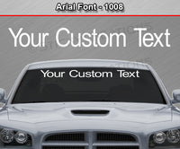 "Arial Font #1008 - Custom Personalized Your Text Letters Windshield Window Vinyl Sticker Decal Graphic Banner 36""x4.25""+"