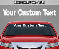 "Arial Black Font #1009 - Custom Personalized Your Text Letters Windshield Window Vinyl Sticker Decal Graphic Banner 36""x4.25""+"
