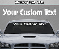 "Atomicag Font #1012 - Custom Personalized Your Text Letters Windshield Window Vinyl Sticker Decal Graphic Banner 36""x4.25""+"