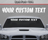 "Bank Font #1014 - Custom Personalized Your Text Letters Windshield Window Vinyl Sticker Decal Graphic Banner 36""x4.25""+"