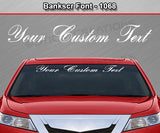 "Bank Script Font #1068 - Custom Personalized Your Text Letters Windshield Window Vinyl Sticker Decal Graphic Banner 36""x4.25""+"