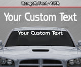 "Bengotb Font #1016 - Custom Personalized Your Text Letters Windshield Window Vinyl Sticker Decal Graphic Banner 36""x4.25""+"