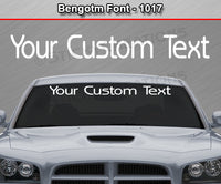 "Bengotm Font #1017 - Custom Personalized Your Text Letters Windshield Window Vinyl Sticker Decal Graphic Banner 36""x4.25""+"